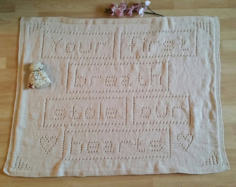 Baby Blanket Knitting Pattern Your first Breath