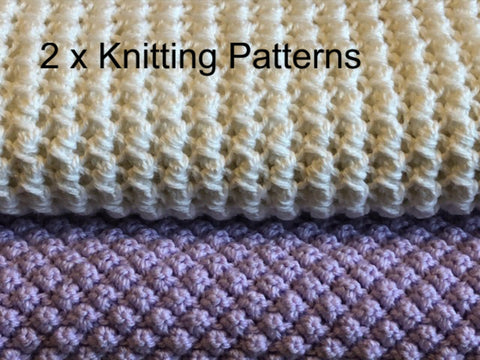 Knitting Patterns for Beginners Lattice Love and Blackberry Stitch Baby Blankets