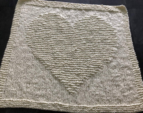 Knitting Patterns for Beginners Chunky Heart Baby Blanket