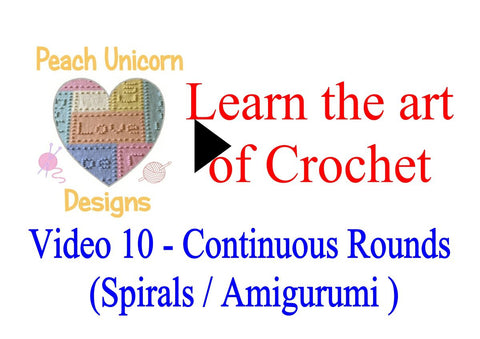 How to work in continuous rounds Amigurumi style sprials crochet video
