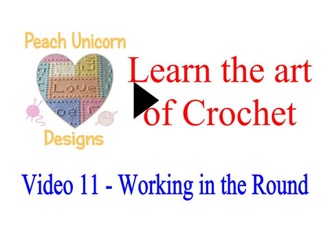 How to crochet in the round crochet video