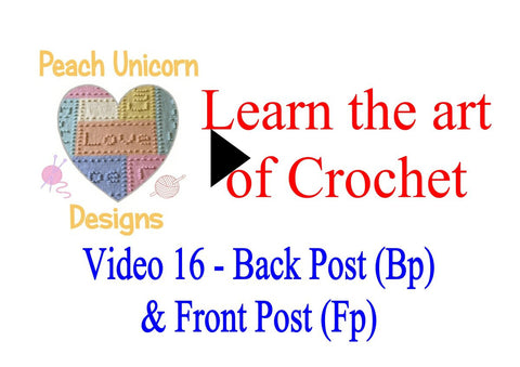 How to work into Back Post and Front Post stitches ( bp and fp ) crochet video