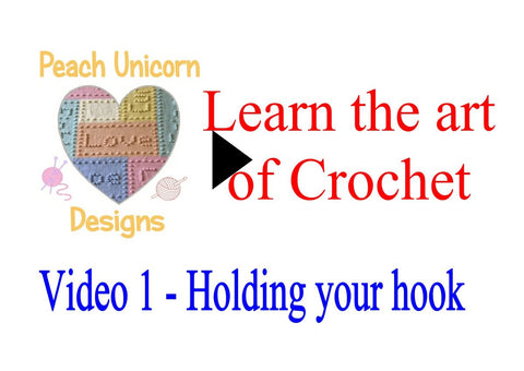How to hold your crochet Hook Crochet Video 1