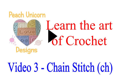How to do the chain stitch ( ch ) in crochet video