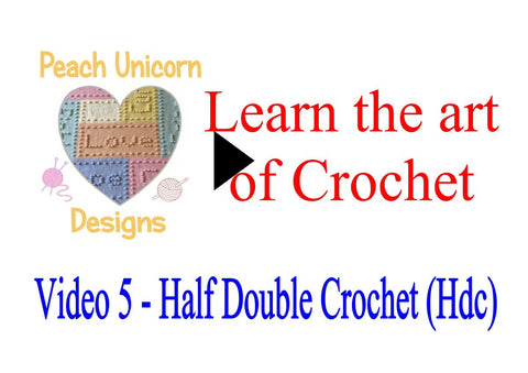 How to do Half Double Crochet Stitch ( Hdc ) in crochet video