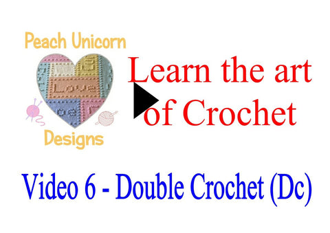 How to do Double Crochet stitch ( Dc ) in crochet video