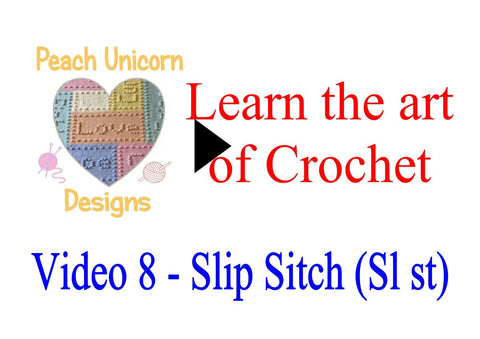 How to do a slip stitch ( sl st ) in crochet video