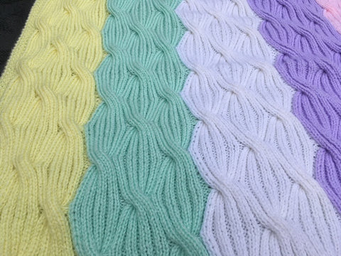 Free Knitting Pattern for Baby Blanket Rainbow Waves