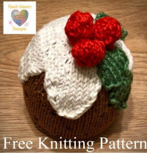 Make a perfect Knitted Christmas Pudding Decoration.