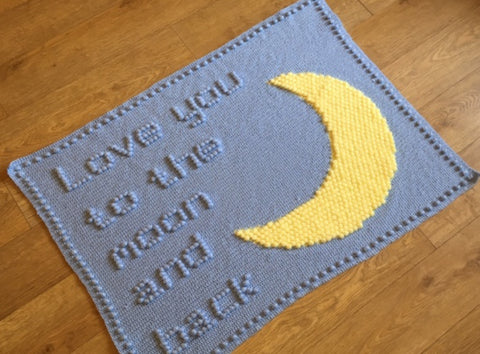 Love you to the moon and back Baby Blanket Crochet Patterns