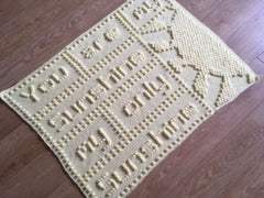 You are my Sunshine Baby Blanket Crochet Patterm