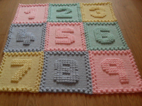 Numbers Crochet Patterns Baby Blankets