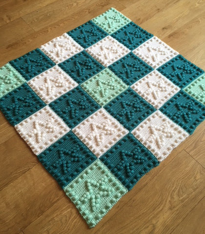 Stars Crochet Patterns Motif Baby Blanket
