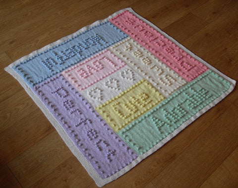 Knitting Patterns for Word Blankets