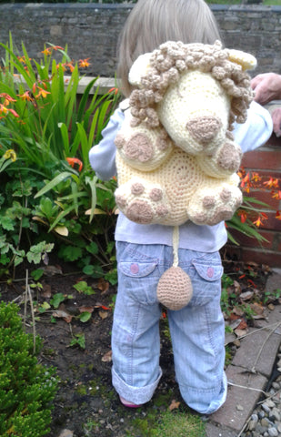 Crochet Backpack Patterns for a Toddler - Lion