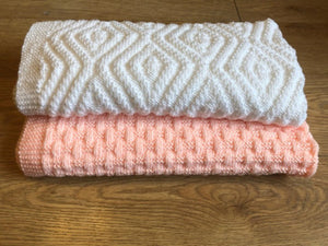 2 Easy Knit and Purl only Baby Blanket - Simple repeats
