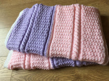 Load image into Gallery viewer, Free Easy Baby Blanket knitting pattern