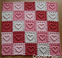 Load image into Gallery viewer, Modern crochet pattern baby blanket