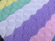 Load image into Gallery viewer, Free Cable Knitting pattern for Baby blanket