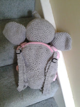 Load image into Gallery viewer, Elephant Backpack CROCHET PATTERN - Amigurumi pattern for Elephant Bag