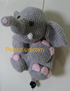 Crochet Bag Patterns Elephant Peach Unicorn Designs