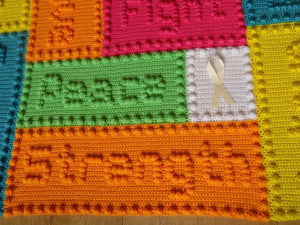 Fighting Cancer blanket pattern
