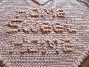 Crochet Pattern Home Sweet Home Rug