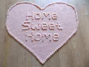 Crochet Pattern for Rug Home Sweet Home