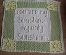 Load image into Gallery viewer, Sunshine Baby Blanket Knitting Pattern