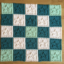 Load image into Gallery viewer, Baby Blanket Crochet Pattern Stars