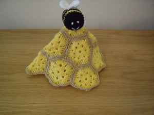 Crocheted lovey Bee