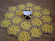 Load image into Gallery viewer, Bumble Bee Crochet Lovey Pattern