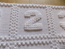 Load image into Gallery viewer, Numbers Baby Blanket Puff Stitch Crochet Pattern