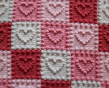 Load image into Gallery viewer, Hearts Crochet Patterns Motifs Blanket Baby