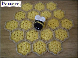 Crochet Lovey Pattern Bumble Bee Blankie Security Blanket