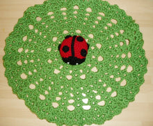 Load image into Gallery viewer, Free Crochet Lovey Ladybug Pattern