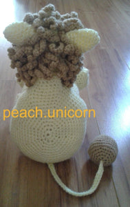 Knitting Pattern for Lion Toy