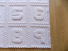 Load image into Gallery viewer, Crochet Numbers Blanket Pattern Puff Stitch