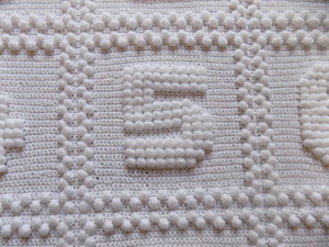 Numbers Crochet Pattern Baby Blanket