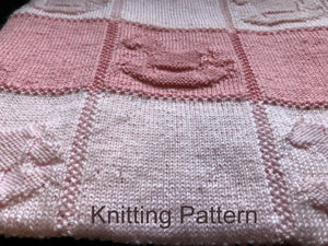 Knitting Patterns for Beginners - Knit and Purl only Peach Unicorn Designs