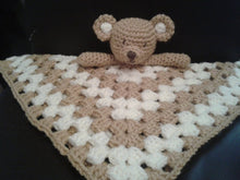 Load image into Gallery viewer, Crochet Lovey Teddy Bear pattern