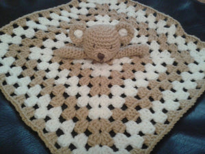Crochet pattern for Baby Lovey Teddy Bear