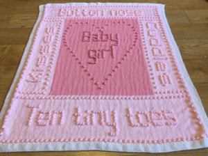 Words Blanket Knitting Pattern