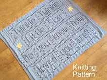 Load image into Gallery viewer, Knitting Patterns Baby Blanket