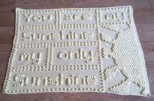 Load image into Gallery viewer, You are My Sunshine Baby Blanket CROCHET PATTERN - one piece