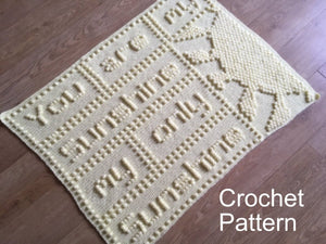 Crochet Patterns Baby Blanket You are my Sunshine | Peach Unicorn Designs