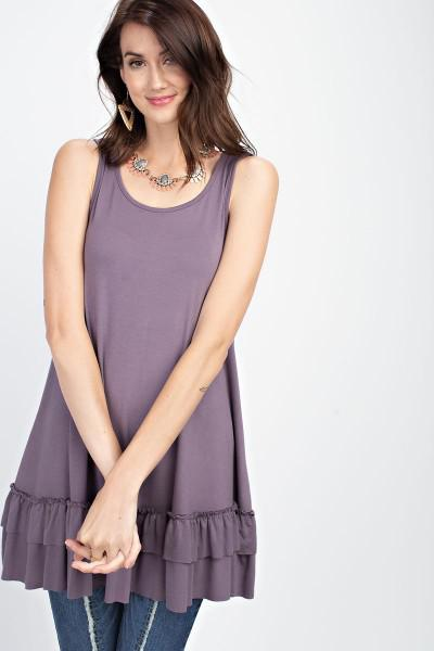 Sleeveless Tunic in Dusty Purple - My Sister's Porch