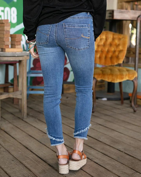 Cropped Double Hem Jeggings - My Sister's Porch