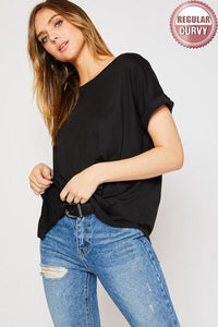 Do Life Dolman Sleeve Knit Top in Black (Curvy) - My Sister's Porch