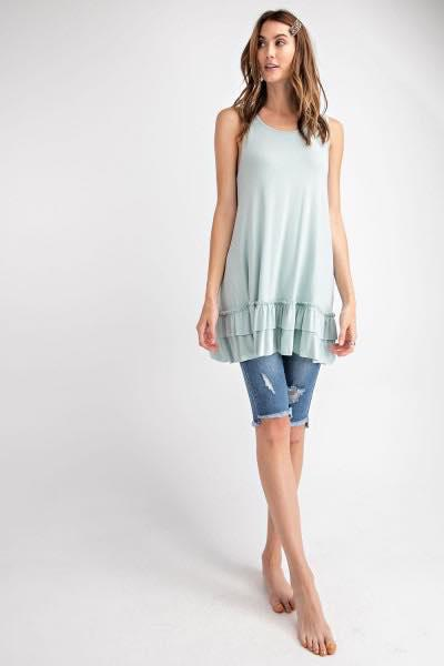 Sleeveless Tunic in Spring Mint - My Sister's Porch